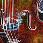 Upright Bass Close Up Art Print