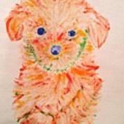 Upright Puppy Art Print