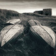 Upturned Boats Art Print