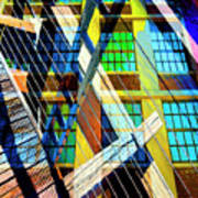 Urban Abstract 123 Art Print
