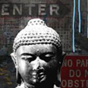 Urban Buddha 4- Art By Linda Woods Art Print