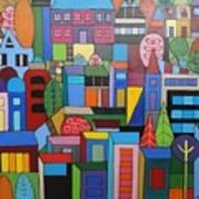 Urban Cityscape 1 Art Print