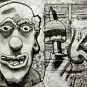 Urban Clown Art Print