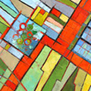 Urban Composition - Abstract Zoning Plan Art Print