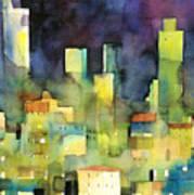 urban landscape 11 - le torri di San Gimignano Art Print
