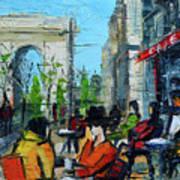 Urban Story - Champs Elysees Art Print