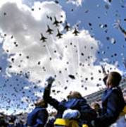 U.s. Air Force Academy Graduates Throw Art Print by Stocktrek Images