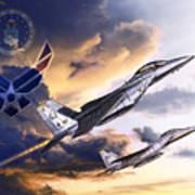 Us Air Force Art Print by Kurt Miller