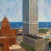 Us Bank And Sailboats Art Print