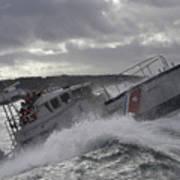 U.s. Coast Guard Motor Life Boat Brakes Art Print by Stocktrek Images