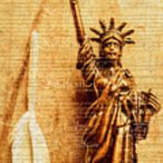 Us Constitution Art Print