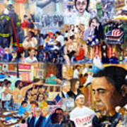 Us History The First Ten Years 21st Century Art Print