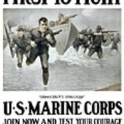 Us Marine Corps - First To Fight  Art Print