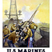 Us Marines -- First To Fight For Democracy Art Print