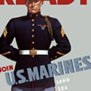 Us Marines - Ready Art Print