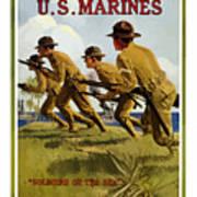 Us Marines - Soldiers Of The Sea Art Print