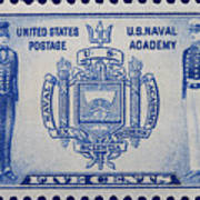 Us Naval Academy Postage Stamp Art Print