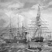 U.s. Naval Fleet During The Civil War Art Print