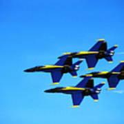 Us Navy Blue Angels Flight Demonstration Team In Fa 18 Hornets Art Print