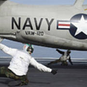 U.s. Navy Sailors Give The Thumbs Print by Stocktrek Images