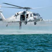 U.s. Navy Sh-60s Sea Hawk Helicopter Art Print