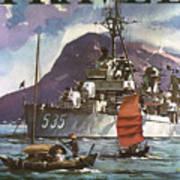 U.s. Navy Travel Poster Art Print