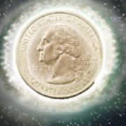 Us One Quarter Dollar Coin 25 Cents Art Print