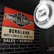 Us Route 66 Briggs And Stratton Signage Sc Art Print