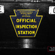 Us Route 66 Smaterjax Dwight Il Official Inspection Signage Art Print
