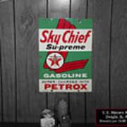 Us Route 66 Smaterjax Dwight Il Sky Chief Supreme Signage Art Print