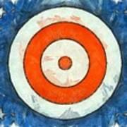 Usa Flag Abstract Art Print