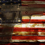 Usa Handgun Art Print