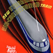 Usa The Comet Vintage Travel Poster Restored Art Print