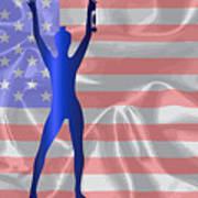 Usa Winner Background Art Print