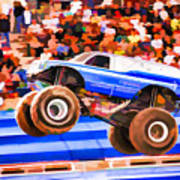 Usaf Afterburner Monster Jam Art Print