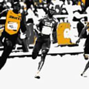 Usain Bolt Bringing It Home Art Print