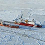 Uscg Healy Breaks Ice Art Print