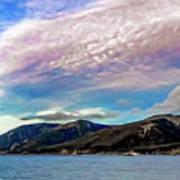 Ushuaia, Ar, Clouds Over Mountains Art Print