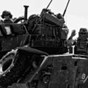 Usmc On The Move In A Lav-25 Art Print