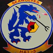 Usn Seawolves Logo Art Print