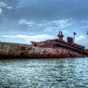 Usns American Mariner - Target Ship, Chesapeake Bay, Maryland Art Print