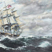 Uss Constitution Heads For Hm Frigate Guerriere Art Print