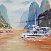 Uss San Pablo On Yangtze River Patrol Art Print
