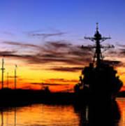 Uss Spruance Is Pierside At Naval Art Print