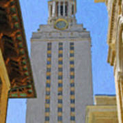 Ut University Of Texas Tower Austin Texas Art Print
