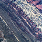 Utah Mountains High Altitiude Aerial Photo Art Print