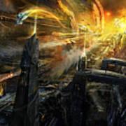 Utherworlds Battlestar Art Print
