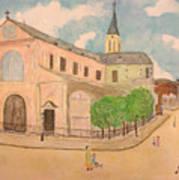 Utrillo And Church Seasonal Change In Paris By Japanese Artist Art Print