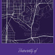 Uw Street Map University Of Washington Seattle Map Canvas Print
