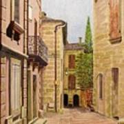 Uzes, South Of France Art Print